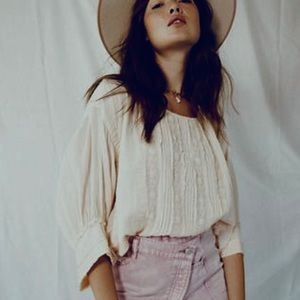 NWT Free People Florence Blouse